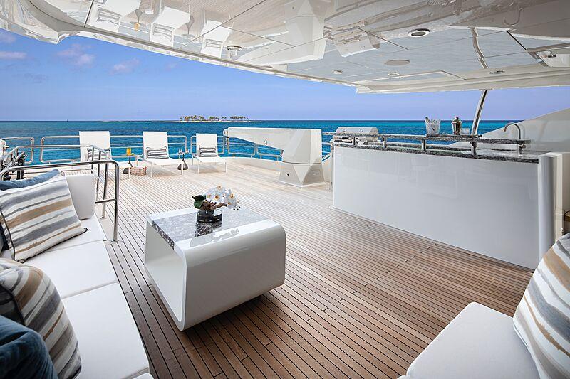 Eileen's Way yacht Bridge Deck aft