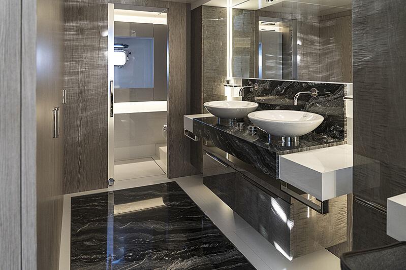 Arcadia A85 Hull 18 yacht bathroom