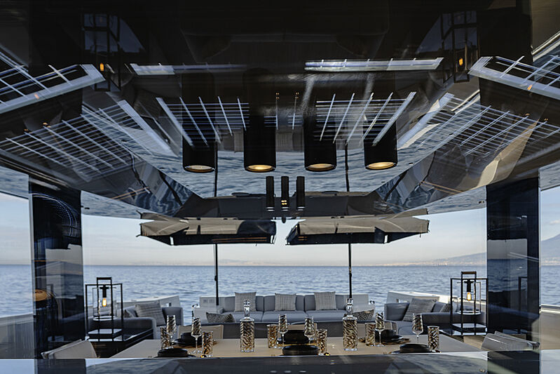 Arcadia A85 Hull 18 yacht dining