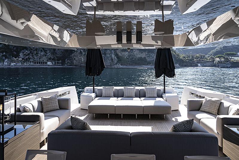 Arcadia A85 Hull 18 yacht aft deck