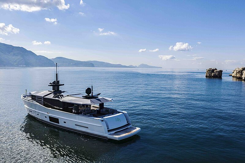 Arcadia A85 Hull 18 yacht anchored