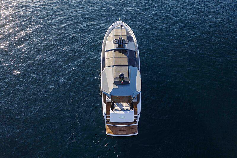 Arcadia A85 Hull 18 yacht aerial