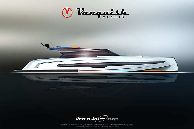 Vanquish VQ115 Veloce yacht rendering