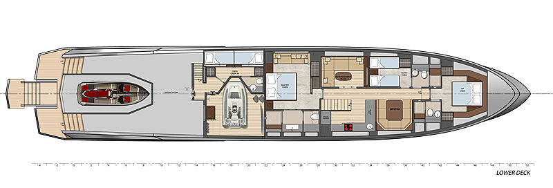 Vanquish VQ115 Veloce yacht layout