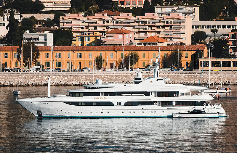 Lady Marina yacht by Feadship in Villefranche-sur-Mer