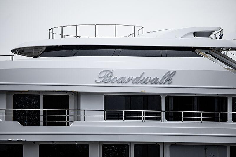 Boardwalk yacht launch at Feadship