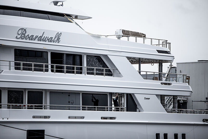 Feadship yacht Boardwalk launch at Feadship