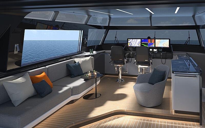 Cheoy Lee CLX96 interior design