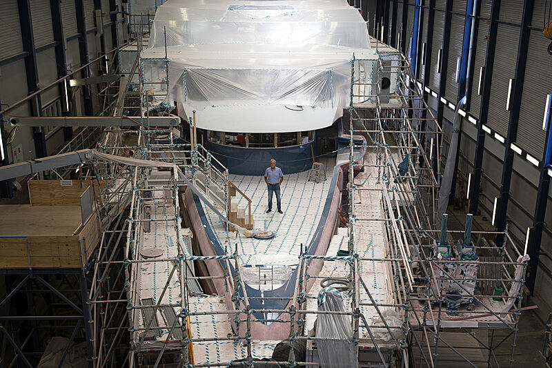 Phi yacht in-build