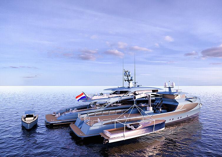 Phi yacht rendering
