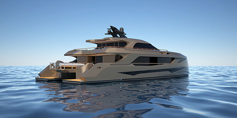 31m SP30 concept catamaran by Echo Yachts and MMYD