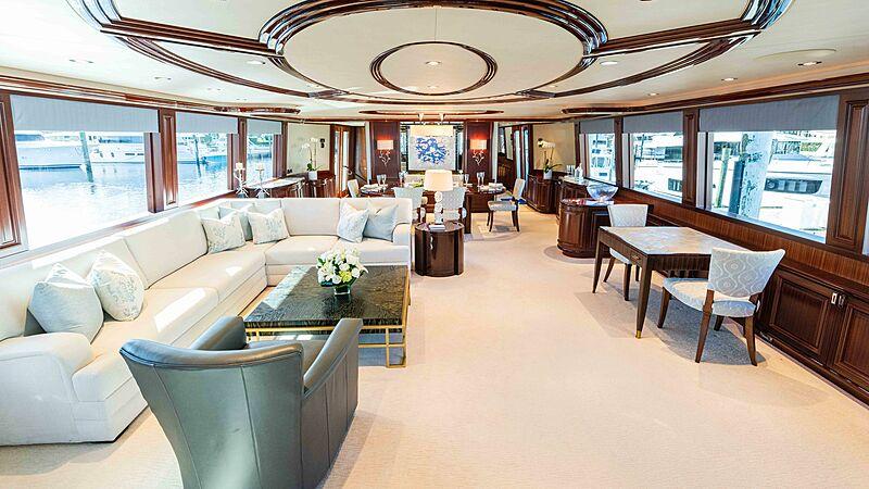 Friendly Confines yacht saloon