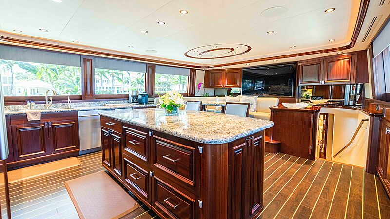 Friendly Confines yacht galley
