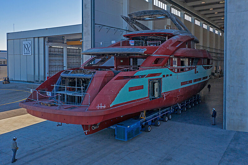 ISA Gran Turismo 45/01 ready for outfitting in Ancona