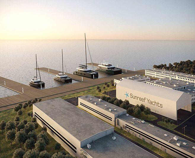 Sunreef Yachts new shipyard rendering