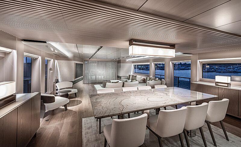 7 Diamonds yacht interior design