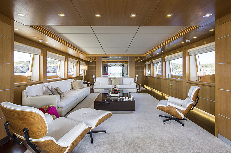 Always Believe yacht saloon