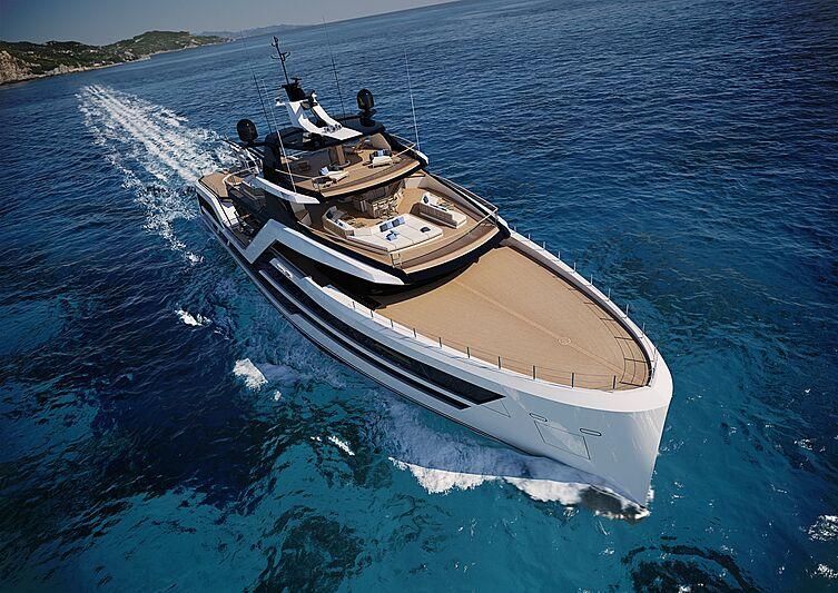 T390 Vanguard yacht exterior design