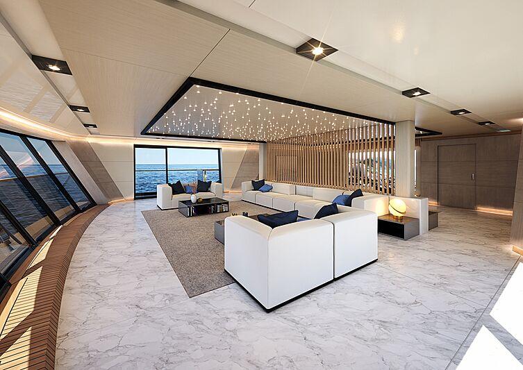 T390 Vanguard yacht interior design
