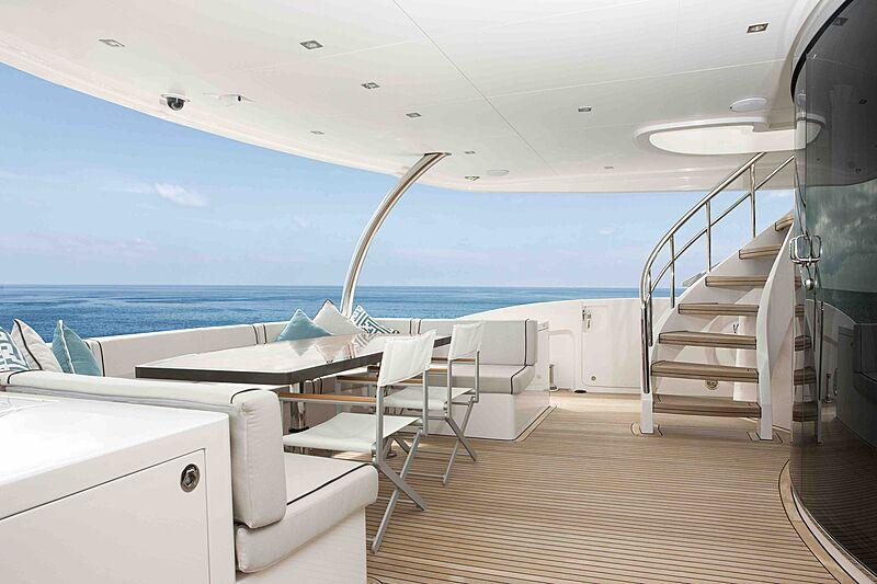 Wild Duck yacht aft deck
