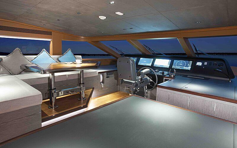 Wild Duck yacht wheelhouse