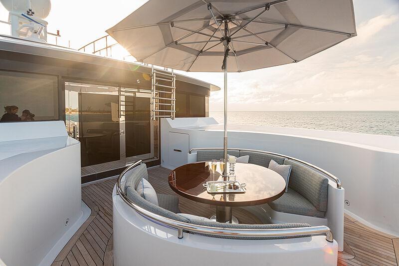 Double Down yacht deck detail