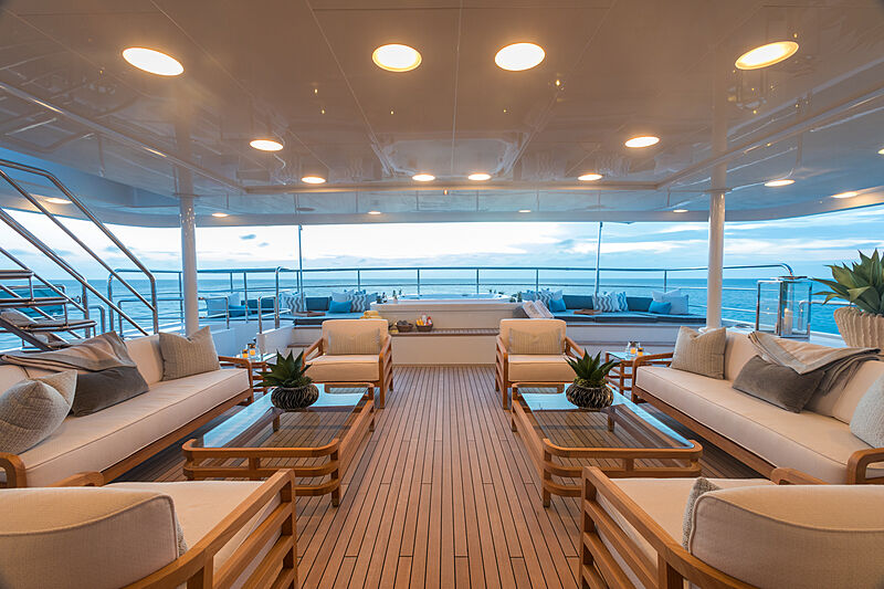 Double Down yacht deck