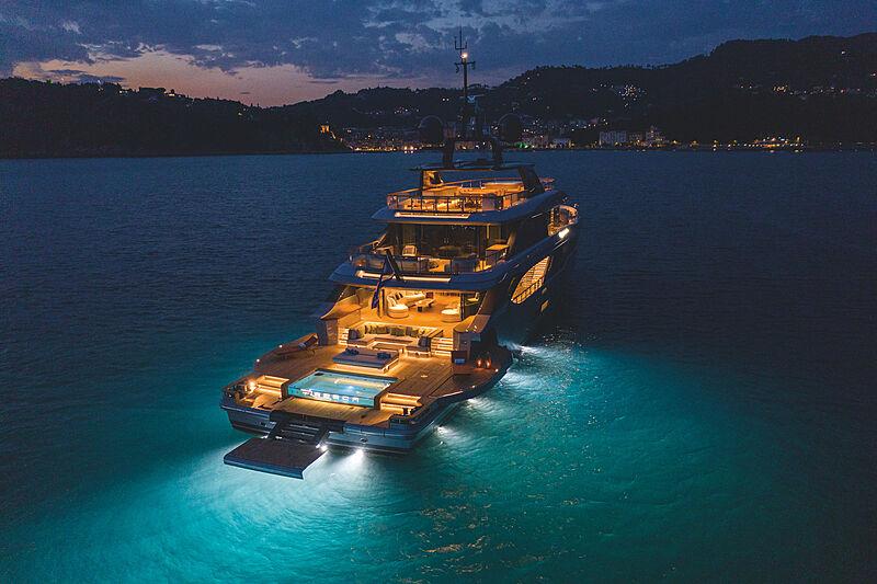 Rebeca yacht anchored
