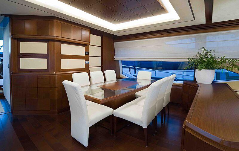 Koukles yacht dining