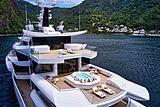 Artefact yacht anchored