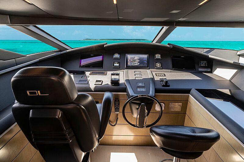 Poderoso yacht wheelhouse