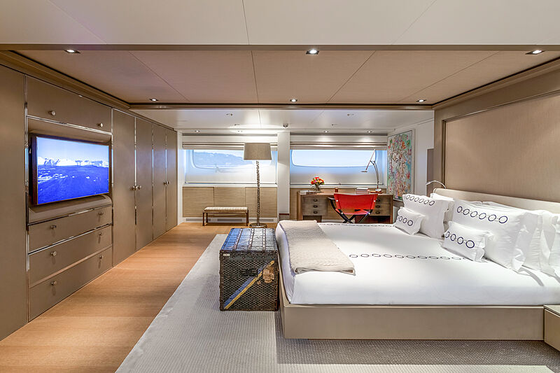 Mrs L yacht stateroom