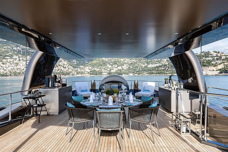 Mrs L yacht deck