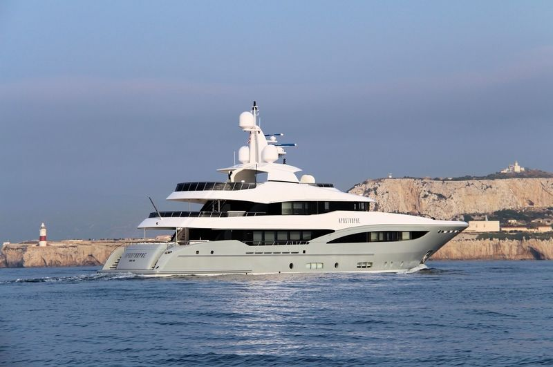 Apostrophe cruising off Gibraltar