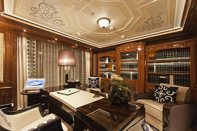 Ace yacht study room