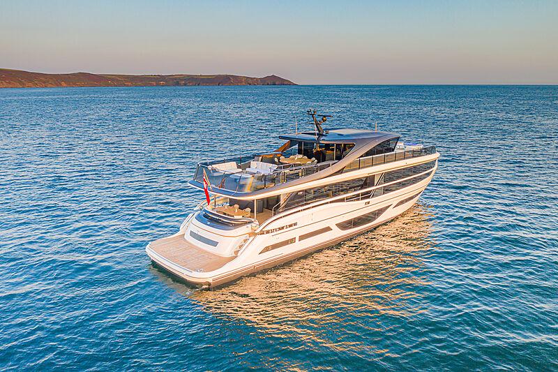 Princess X95/02 yacht at anchor