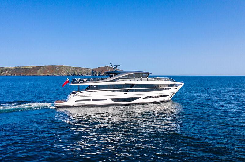 Princess X95/02 yacht cruising