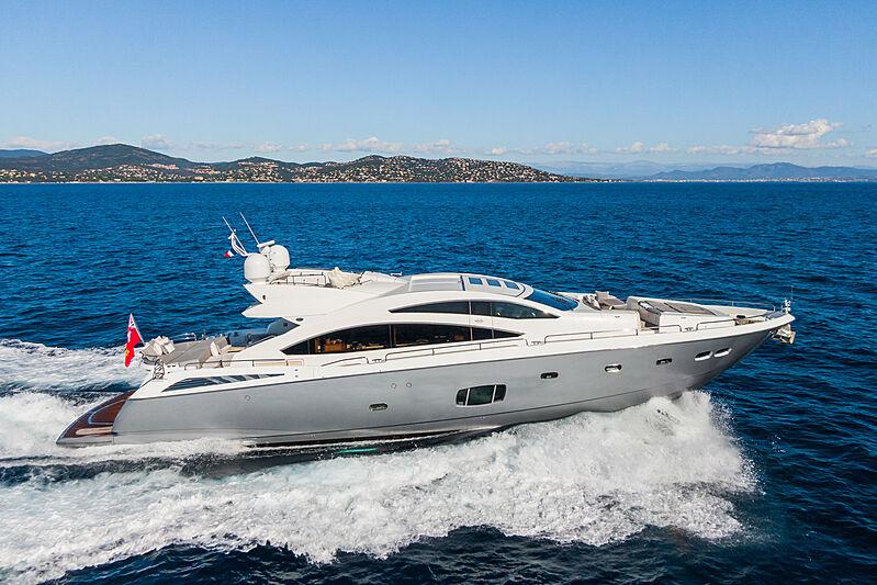 Ghost yacht cruising