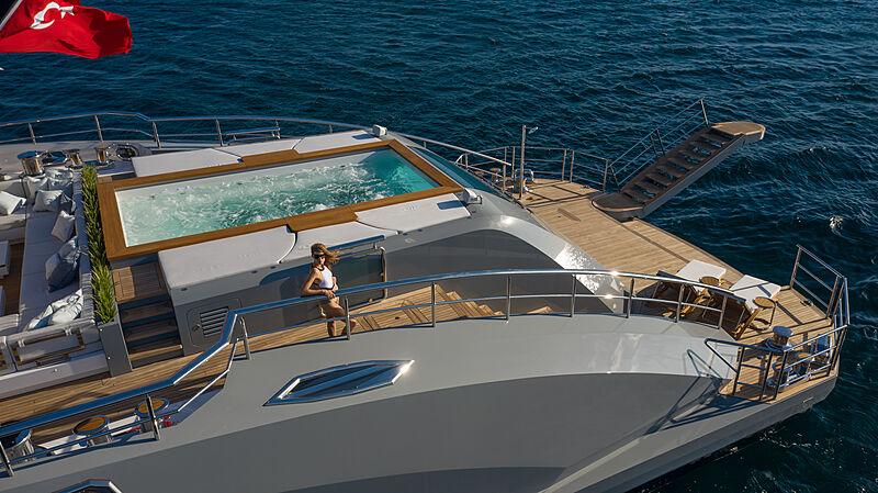 Tatiana yacht stern