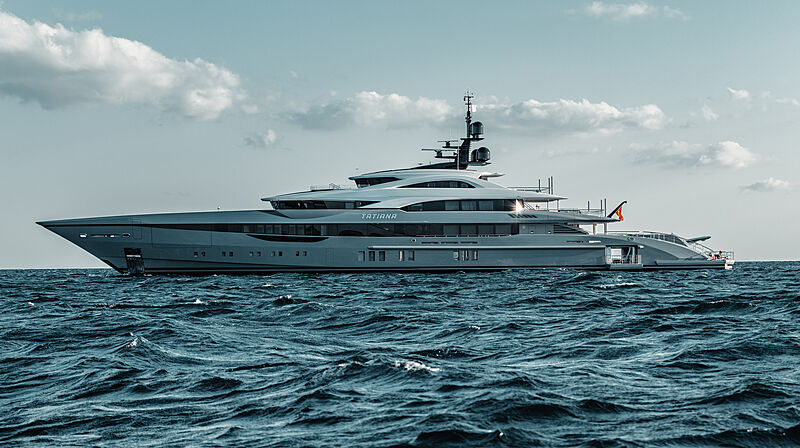 Tatiana yacht anchored