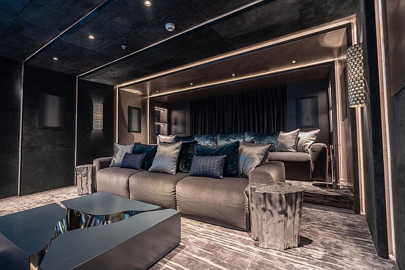 Tatiana yacht cinema room