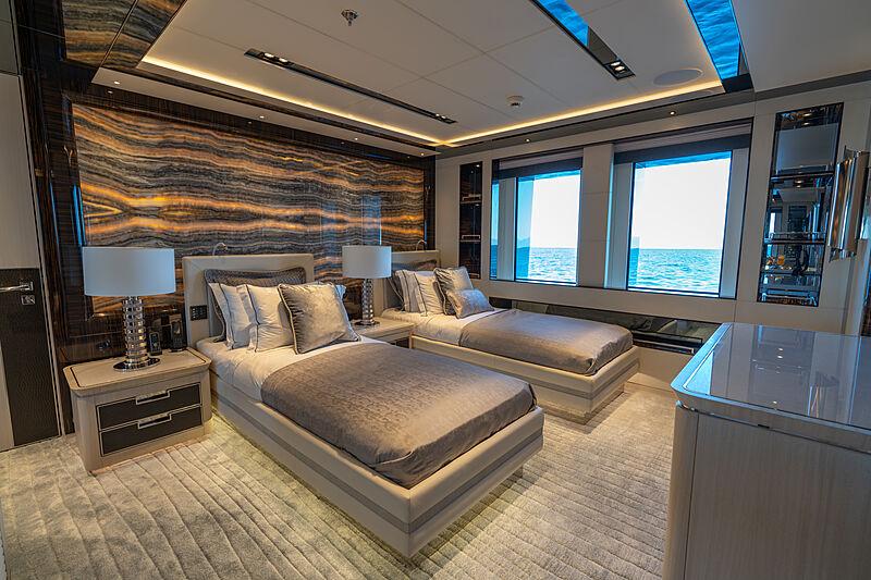 Tatiana yacht stateroom