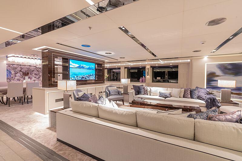 Tatiana yacht saloon