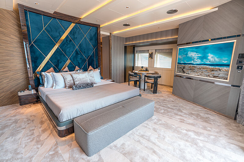 Tatiana yacht Master stateroom