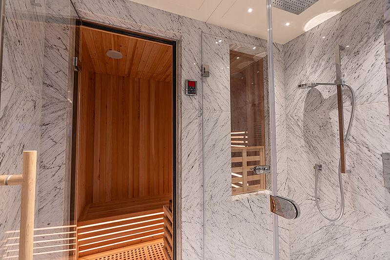 Tatiana yacht sauna