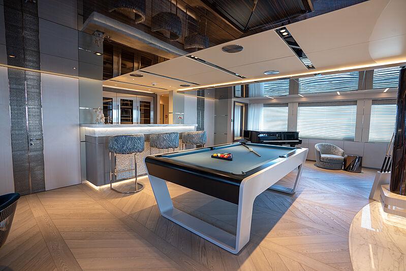 Tatiana yacht game room