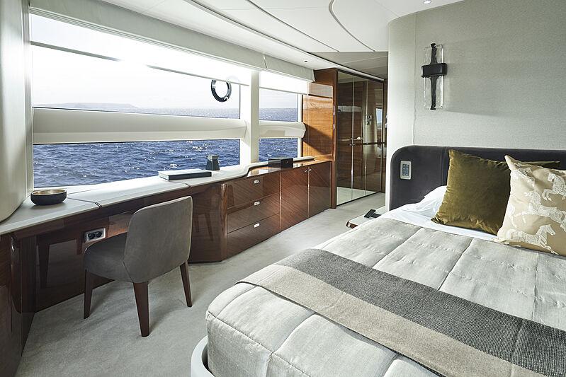 Princess X95/02 yacht master stateroom dressing area