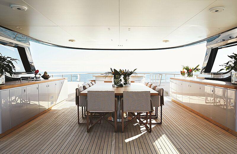 Rebeca yacht aft deck