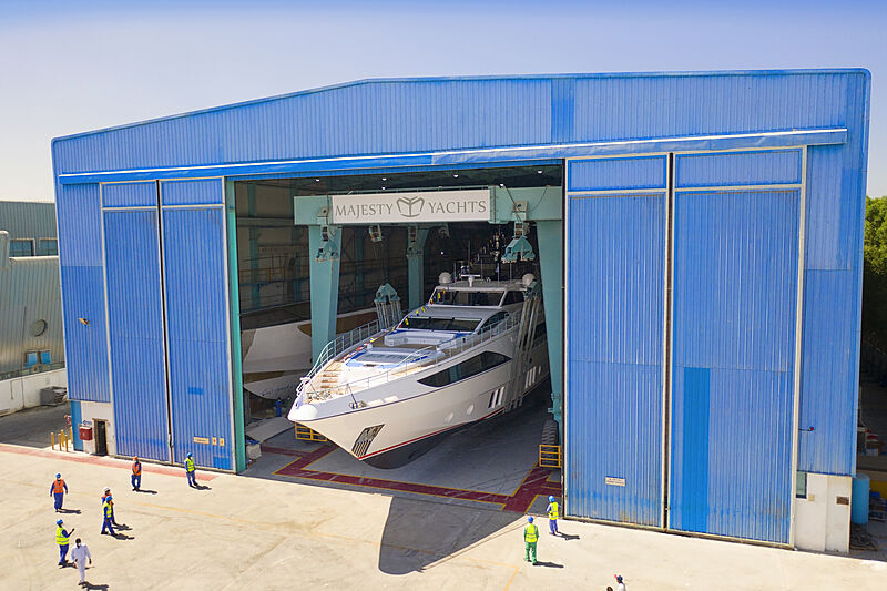 Majesty 122/03 yacht launch in UAE