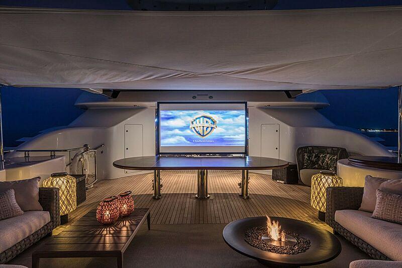 Oasis yacht aft deck cinema